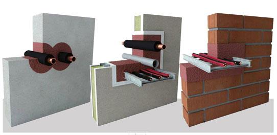 Palokatko / Palosuojaus - esimerkkejä seinäläpivienneistä